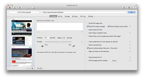 integrity plus for mac link checker and xml sitemap generator