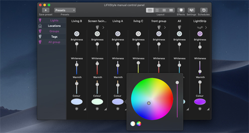 LIFXstyle LIFX app for Mac