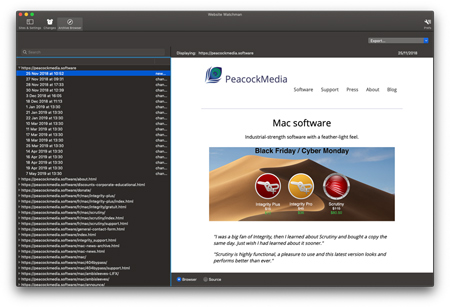 a screenshot of Website Watchman