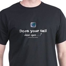 Does your tail have eyes peacockmedia tee